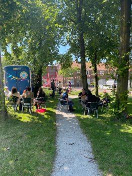 Eerstejaars studenten organiseren buurtfeest in Leiden